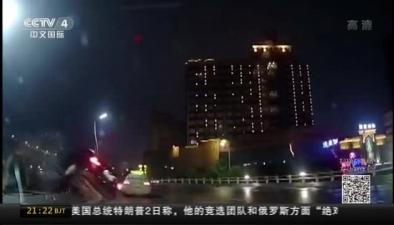江西南昌:司機醉駕 撞擊護欄墜落立交橋