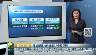 深圳新房均價連續14個月下降