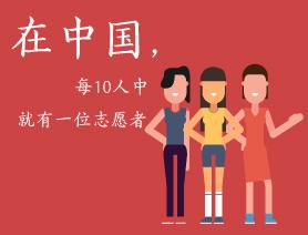 在中國,每10個人中就有一位志願者