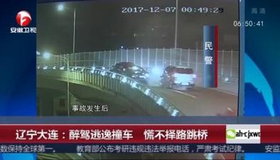 遼寧大連:醉駕逃逸撞車 慌不擇路跳橋