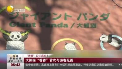 """""""香香""""公主來啦! 大熊貓""""香香""""首次與遊客見面"""
