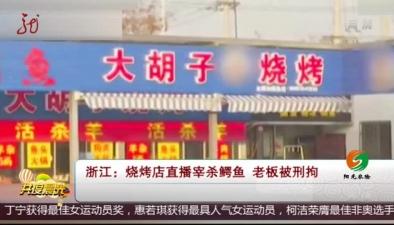 浙江:燒烤店直播宰殺鱷魚 老板被刑拘