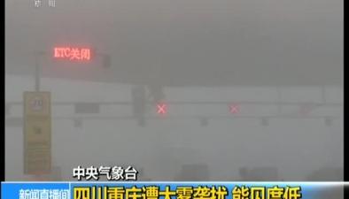 中央氣象臺:四川重慶遭大霧襲擾 能見度低