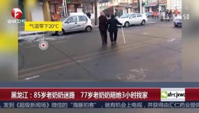 黑龍江:85歲老奶奶迷路 77歲老奶奶陪她3小時找家