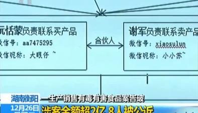 湖南生産銷售有毒有害食品案告破涉案金額超2億 8人被公訴