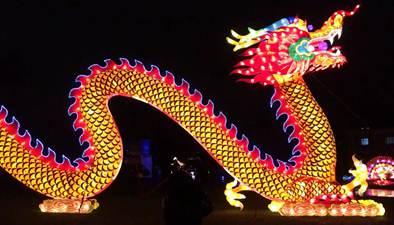 中國彩燈點亮科隆新年夜