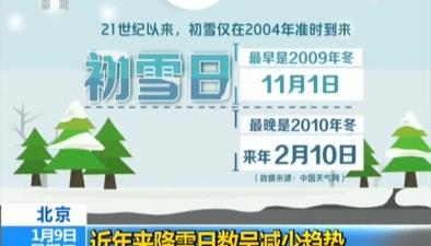 北京:近年來降雪日數呈減少趨勢