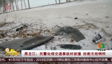黑龍江:民警處理交通事故時被撞 搶救無效犧牲