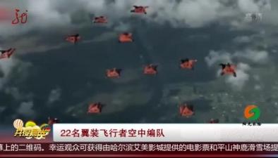 22名翼裝飛行者空中編隊