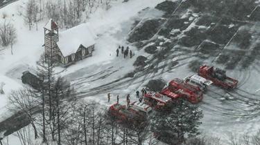 日本草津火山噴發導致雪崩