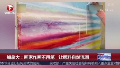 加拿大:畫家作畫不用筆 讓顏料自然流淌