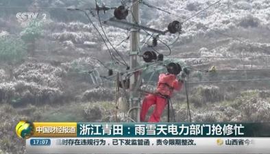 浙江青田:雨雪天電力部門搶修忙
