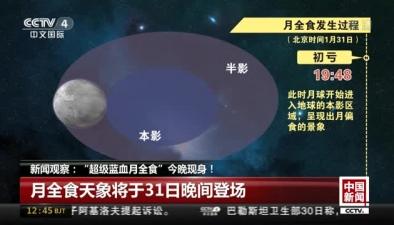 """""""超級藍血月全食""""今晚現身"""