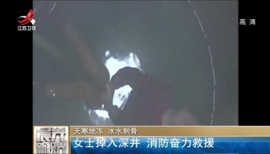 天寒地凍 冰水刺骨:女士掉入深井 消防奮力救援