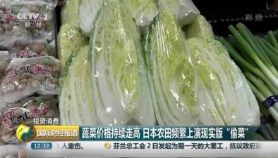 """蔬菜價格持續走高 日本農田頻繁上演現實版""""偷菜"""""""