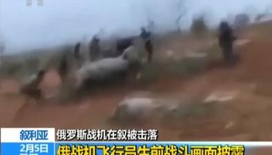 敘利亞:俄羅斯戰機在敘被擊落俄戰機飛行員生前戰鬥畫面披露