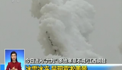 """今日進入""""六九"""" 多地寒意不減·江西銅鼓:冰雪冰凍 呈現霧凇美景"""