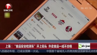 """上海:""""食品安全檢測車""""開上街頭 外賣食品一成不合格"""