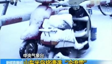 """中央氣象臺:山東半島將遭遇""""冷流雪"""""""