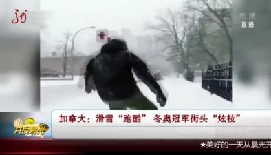 """加拿大:滑雪""""跑酷"""" 冬奧冠軍街頭""""炫技"""""""