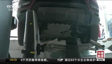 遼寧大連:疑似油門當剎車 路虎衝進健身房