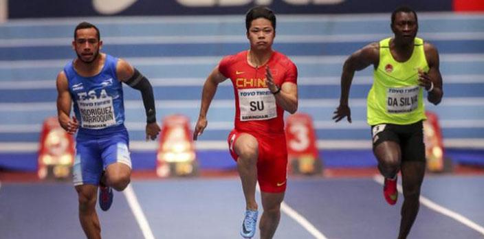 室內世田賽蘇炳添6秒42摘銀 再破亞洲紀錄
