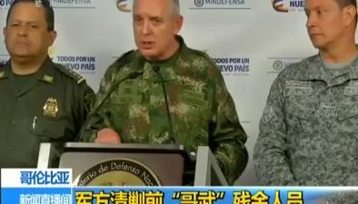"""哥倫比亞:軍方清剿""""哥武""""殘余人員"""