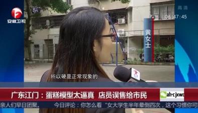 廣東江門:蛋糕模型太逼真 店員誤售給市民