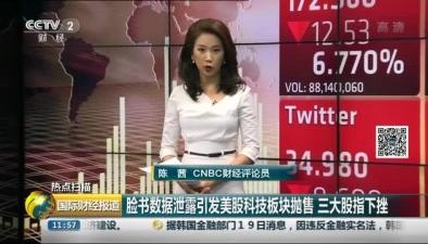臉書數據泄露引發美股科技板塊拋售 三大股指下挫