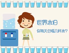 世界水日:你每天会喝几杯水?