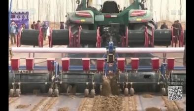 新疆:無人駕駛拖拉機推廣投入春耕生産