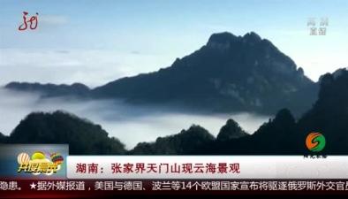 湖南:張家界天門山現雲海景觀
