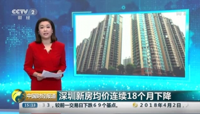 深圳新房均價連續18個月下降