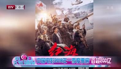 中國電影2018年一季度票房首超200億