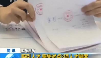 上海浦東:吸引人才 率先試點8項人才制度
