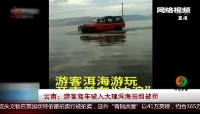 雲南:遊客駕車駛入大理洱海拍照被罰