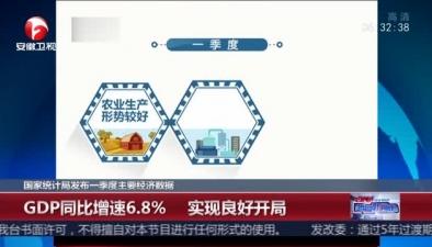 國家統計局發布一季度主要經濟數據:GDP同比增速6.8% 實現良好開局