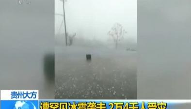 貴州大方:遭罕見冰雹襲擊 2萬4千人受災
