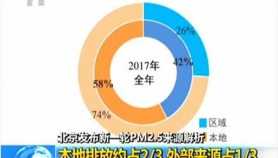 北京發布新一輪PM2.5來源解析:移動源一家獨大 污染佔比達45%45%__央視新聞