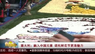 意大利:融入中國元素 諾托鮮花節更添魅力
