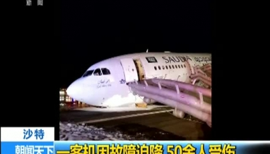沙特:一客機因故障迫降 50余人受傷