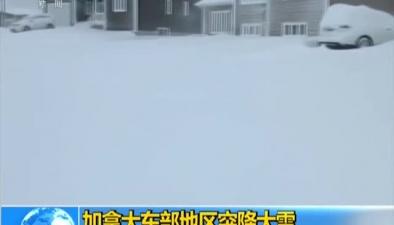 加拿大東部地區突降大雪