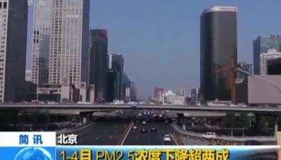 北京:1-4月PM2.5濃度下降超兩成