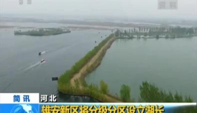 河北:雄安新區將分級分區設立湖長