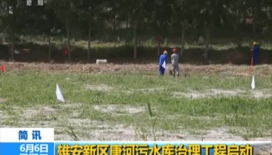 雄安新區唐河污水庫治理工程啟動