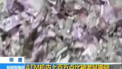 印度:ATM機內上百萬盧比被老鼠撕碎