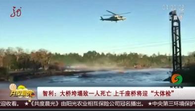 """智利:大橋垮塌致一人死亡 上千座橋將迎""""大體檢"""""""