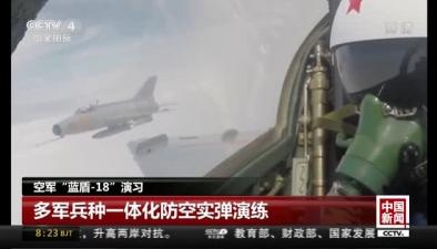 """空軍""""藍盾-18""""演習:多軍兵種一體化防空實彈演練"""