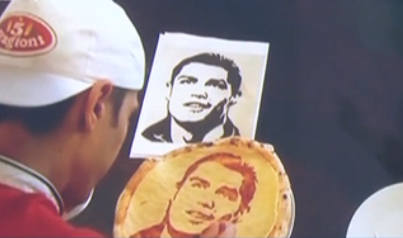 2018俄羅斯世界杯 披薩師巧手制作球星頭像披薩