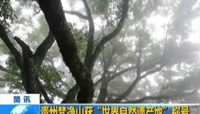 """貴州梵凈山獲""""世界自然遺産地""""稱號"""